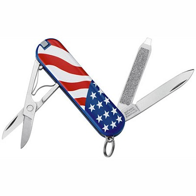 Classic SD Pocket Knife (American Flag Design)