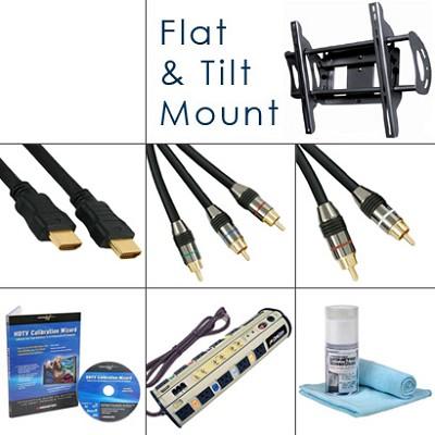HDTV Essentials Bundle (Cables, Power, Tilt Mount, Plus...)