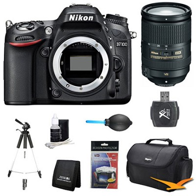 D7100 DX-Format Digital HD-SLR Body w/ 3.2` LCD Monitor 18-300mm VR Pro Lens Kit