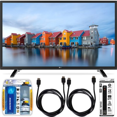 32LH550B 32-Inch 720p HD LED TV Essential Accessory Bundle