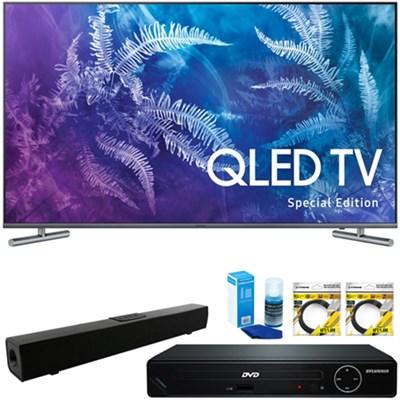 49` Class Q6F QLED 4K TV 2017 + HDMI DVD Player & Sound Bar Bundle