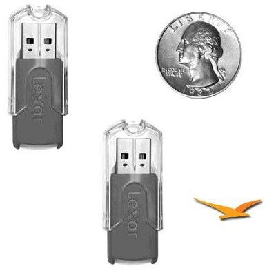 (2 Pack) 8GB JumpDrive FireFly Brand new Bulk Packaging