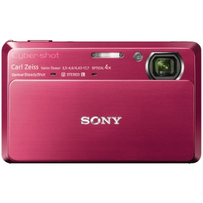 Cyber-shot DSC-TX7 10.2 MP Digital Camera w/ 3.5` Touch LCD (Red) - Open Box