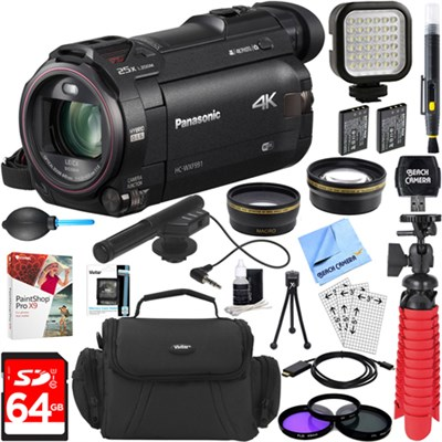 HC-WXF991K Ultra HD Camcorder with Mini Zoom Microphone + 64GB Accessory Bundle