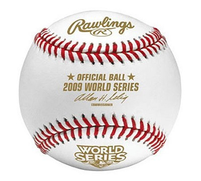 2009 Official World Series Baseball in Cube - OPEN BOX