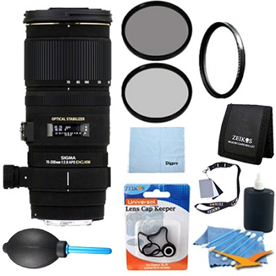 70-200mm f/2.8 APO EX DG HSM OS FLD Zoom Lens for Canon DSLRs - Pro Lens Kit