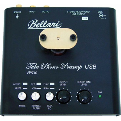 VP530 Tube Phono Preamplifier with USB Output