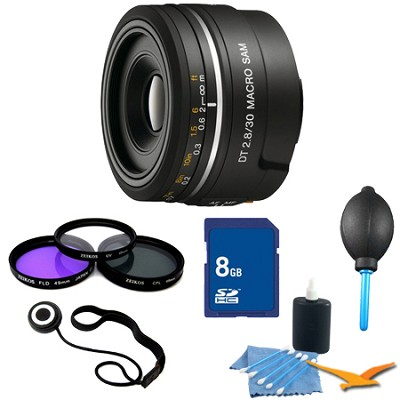 SAL30M28 - 30mm f/2.8 Macro SAM Lens for Sony Alpha DSLR's Essentials Kit