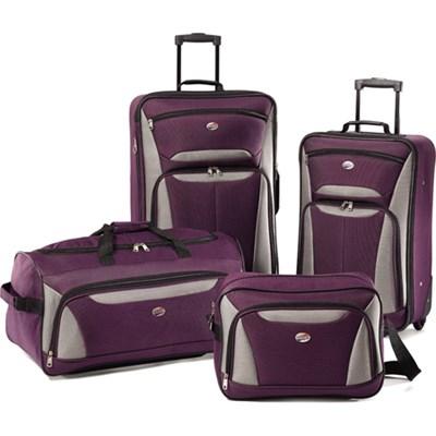 Fieldbrook II Four-Piece Luggage Set (Purple/Grey) - OPEN BOX