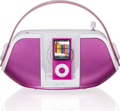 Ib109P Am/Fm Radio With Ipod(R) Dock (Pink)