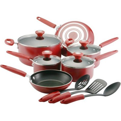 Silverstone Culinary Colors 13-Piece Cookware Set - Red