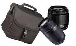 Twin Zoom deluxe Kit w/28-80mm and 75-300mm zoom lenses for SONY ALPHA DIGITAL