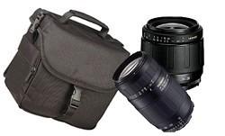 Twin Zoom deluxe Kit w/28-80mm & 75-300mm zoom A-Mount lenses SONY ALPHA DIGITAL