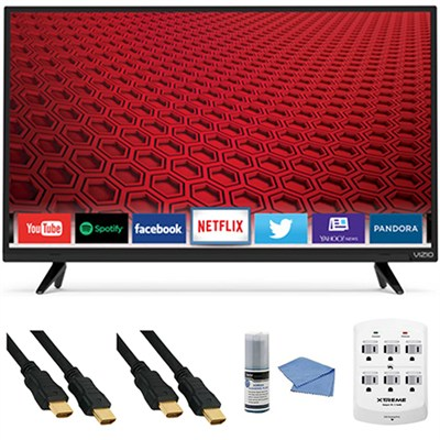 E32-C1 - 32-Inch 120Hz Full HD 1080p Smart LED TV E-Series + Hookup Kit