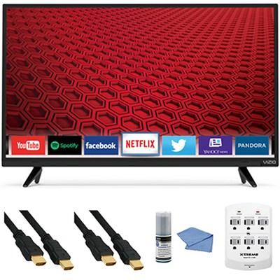 E32-C1 - 32-Inch 120Hz Full HD 1080p Smart LED TV E-Series + Hookup Kit