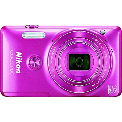 COOLPIX S6900 16MP Full HD 1080p Digital Camera - Pink