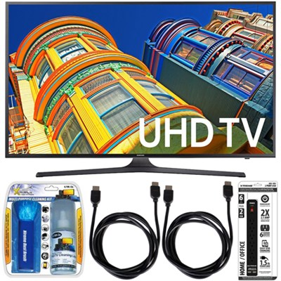 UN55KU6300 - 55-Inch Smart 4K UHD HDR LED TV Essential Accessory Bundle
