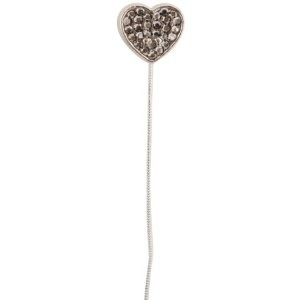 11848-BLG Monster High Black Bling Heart and Bolt Earbuds