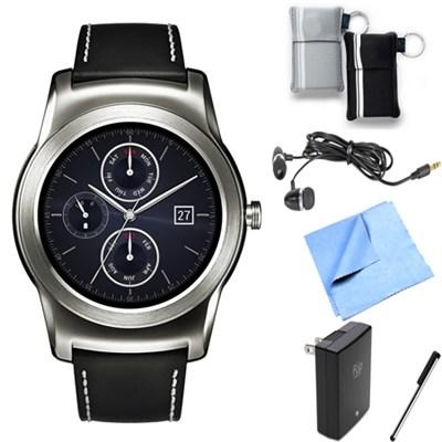 Watch Urbane Android Smartwatch (Silver) Essentials Bundle