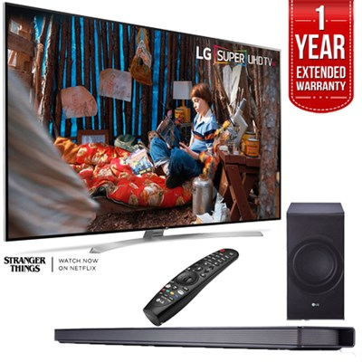 SUPER UHD 86` 4K Smart HDR LED TV w/ LG SJ8 Soundbar and Extended Warranty