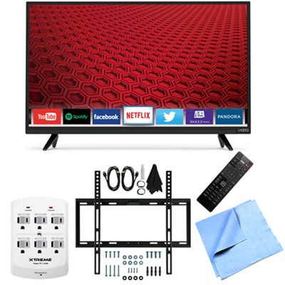 E32-C1 - 32-Inch 120Hz Full HD 1080p Smart LED TV Slim Flat Wall Mount Bundle