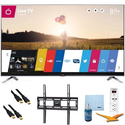 55` 1080p 240Hz 3D LED Smart HDTV WebOS Plus Mount & Hook-Up Bundle (55LB7200)
