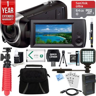 HDR-CX405/B Full HD 60p Camcorder & 64GB MicroSD Accessory Bundle