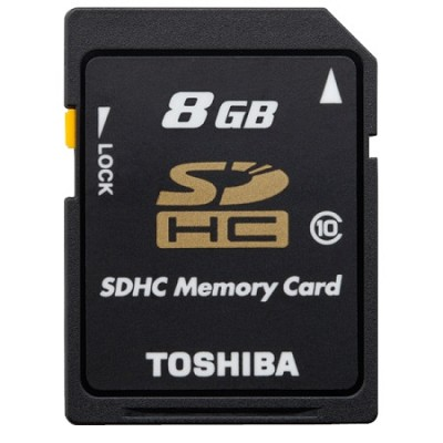 Toshiba Secure Digital 8GB Class 10 UHS-I Hi Capacity SDHC Memory Card