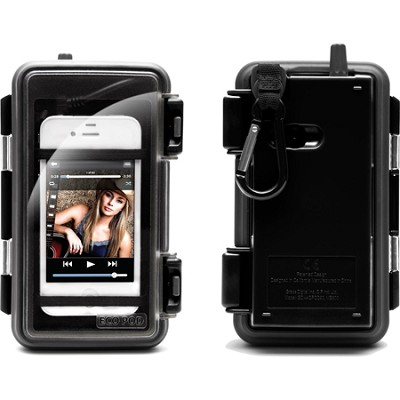 Eco Pod Rugged and Waterproof Case for MP3 players and Smartphones - Black