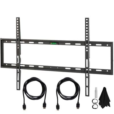 Flat & Tilt Wall Mount Kit Ultimate Bundle for 32-60 inch TVs - OPEN BOX