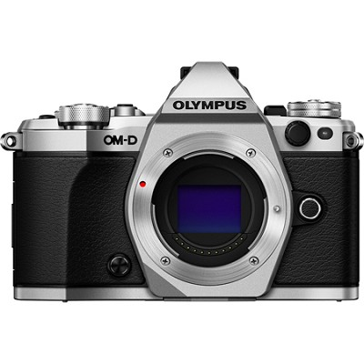 OM-D E-M5 Mark II Micro Four Thirds Digital Camera Body Only - Silver