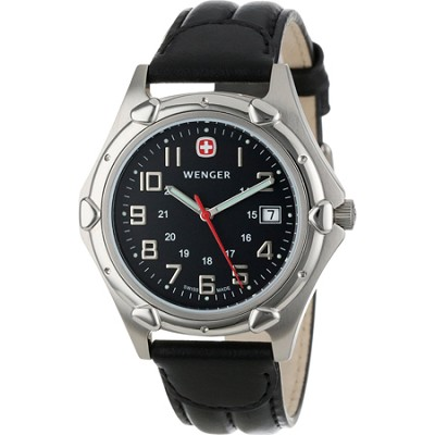 Men's Standard Issue XL Watch - Charcoal Dial/Black Leather Strap