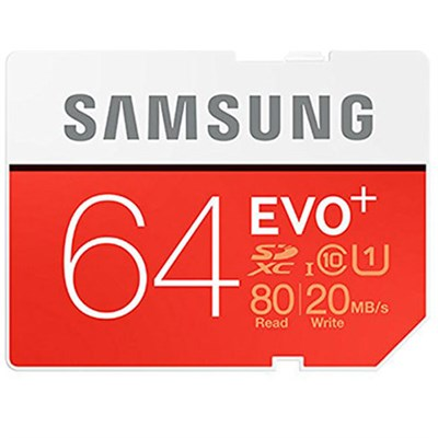 64GB EVO+ UHS-I SDXC U1 Memory Card (Class 10) (MB-SC64D/AM)