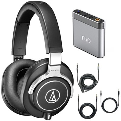 ATH-M70x Professional Monitor Headphones - Black Amplifier Bundle