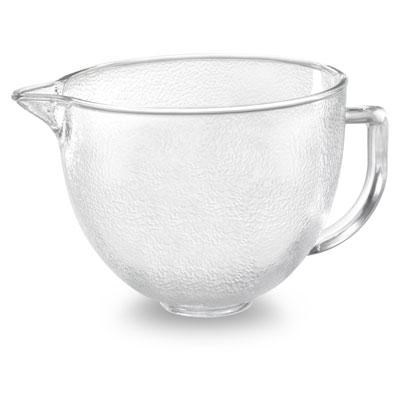 5-Quart Tilt-Head Hammered Glass Bowl with Lid - K5GBH