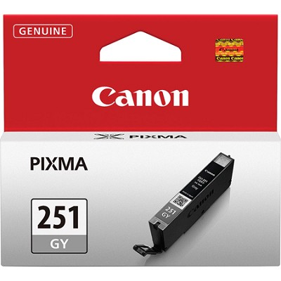 CLI-251 Gray Ink Tank for PIXMA iP7220, MG5420, MG6320 Printers