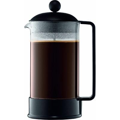 Brazil 8 Cup French Press Coffee Maker 34 oz Glass Carafe - Black - OPEN BOX