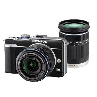 PEN E-PL1 - 2 Lens Kit with 14-42mm II and 40-150mm f/4.0-5.6 - OPEN BOX
