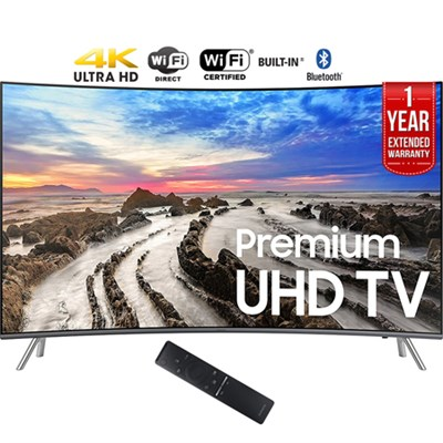 54.6` Curved 4K UHD Smart LED TV (2017) + 1 Year Extended Warranty - Refurbished