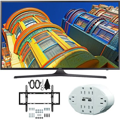 UN55KU6290 55` Class 6-Series 4K Ultra HD Smart LED TV w/ Tilt Wall Mount Bundle