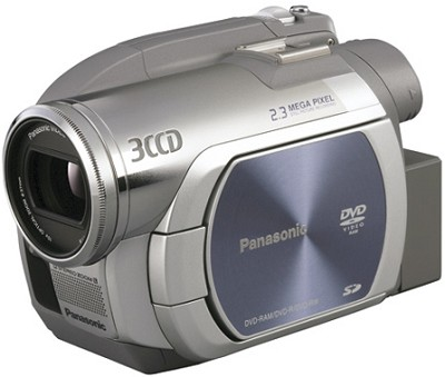 VDR-D250 - 3CCD DVD Camcorder, 10x Zoom, 2.3 MP Still, SD Card Slot, 2.7` LCD