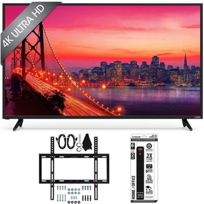 E43u-D2 - 43` SmartCast 4K UHD LED Smart TV Home Theater Slim Wall Mount Bundle