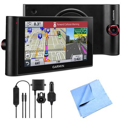nuviCam LMTHD 6` GPS w/ Built-in Dashcam, Maps & HD Traffic Backup Camera Bundle