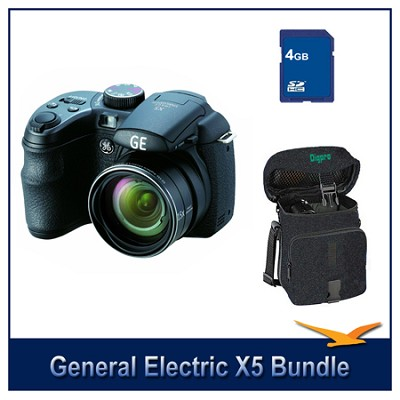 X5 Pro Series 14MP Digital Camera Holiday Bundle w/ 4G memory and Case