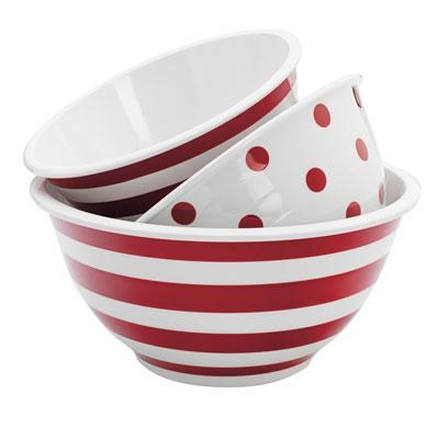 3pc Dec.Melamine Mixing Bowl