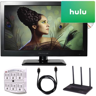 PLEDV1945A-B 19-Inch 720p 60Hz LED TV-DVD Combo Freedom From Cable Bundle