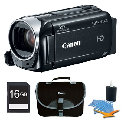 VIXIA HF R400 HD 53x Image Stabilized Optical Zoom Camcorder Plus 16GB Bundle