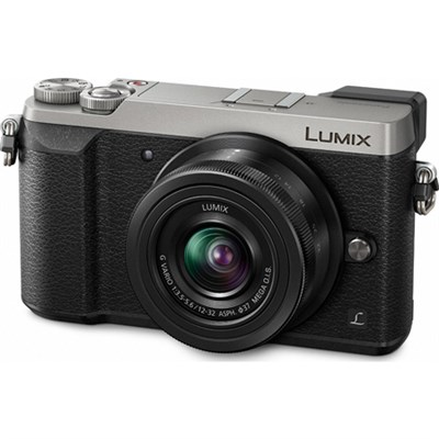 LUMIX GX85 4K Mirrorless Interchangeable Lens Cam w/ 12-32mm - Silver - OPEN BOX