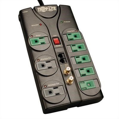 8-Outlet Eco Green Audio/Video Surge Protector - AV88SATG