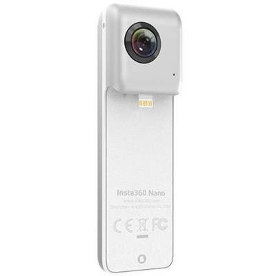 Nano 360 Degree Dual Lens VR Camera iPhone 7/7P/6S/6SP/6/6P Silver - OPEN BOX